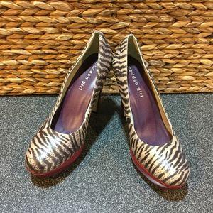 Madden Girl Cleary Zebra Pattern Heels
